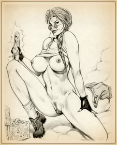 tomb raider with a dildo sketch gallery