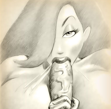 Jessica Rabbit's hot erotic sketch